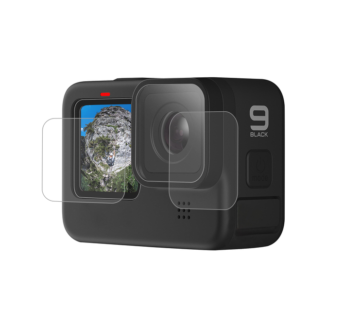 S-Cape Tempered Glass Screen Protector for GoPro Hero 9 Black - 3 Piece