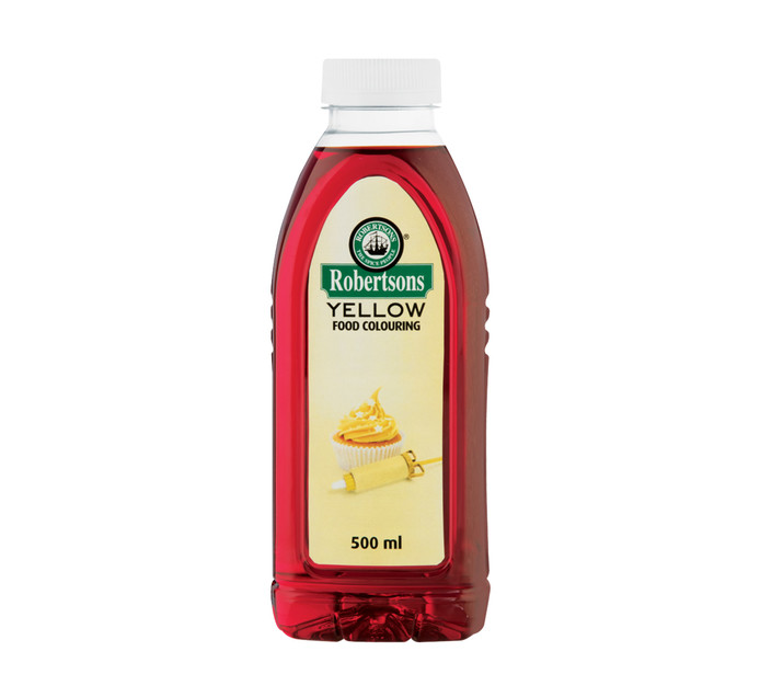 ROBERTSONS FOOD COLOUR 500ml, EGG YELLOW | Cupcake / Scone / Muffin ...