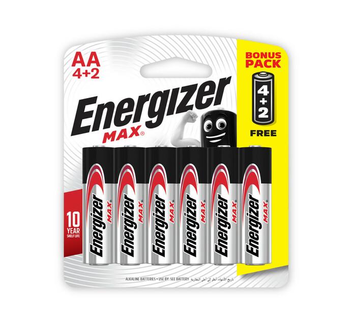 Energizer Max AA Alkaline Batteries 6-Pack
