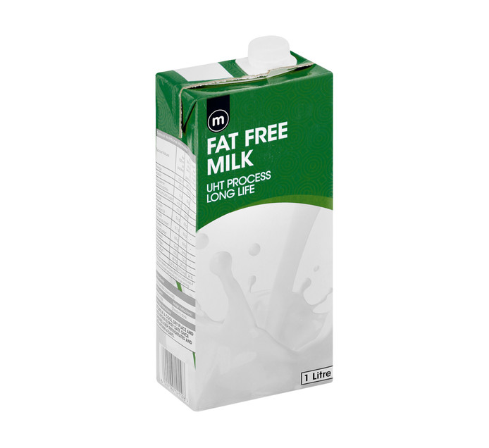 M Long Life Milk Fat Free (6 x 1 l)
