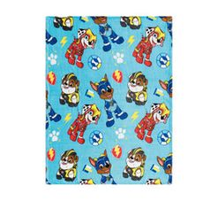 Character 115 x 145 cm Coral Flannel Throw Paw Patrol Blue