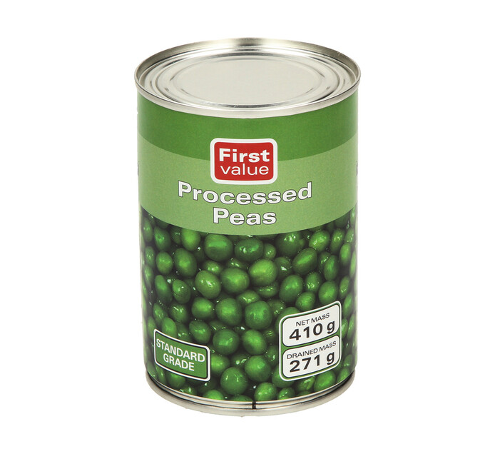 First Value Peas Processed (1  x 410g)