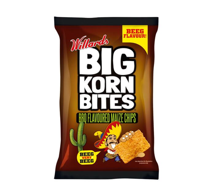 Willards Big Korn Bites BBQ (18 x 120g)
