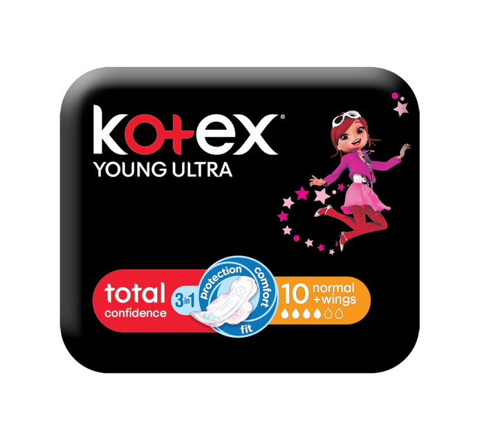 Kotex Young Ultra Thin Pads Normal (1 x 10's)