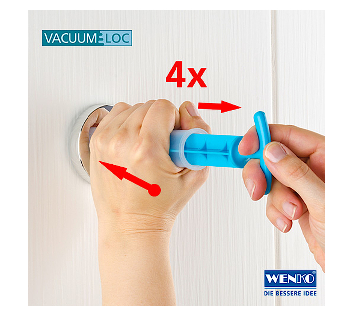 WENKO Vacuum-Loc Corner Shelf Bari - No Drilling Required