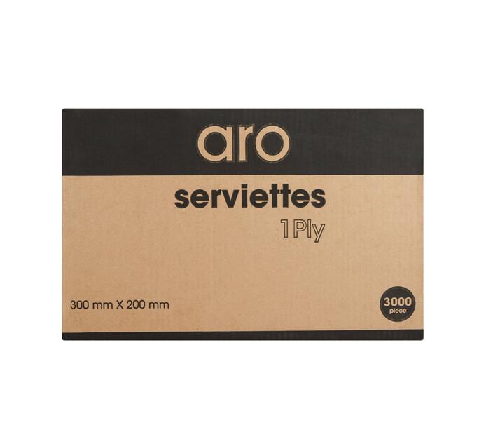ARO 1 Ply Serviettes (1  x 3000)