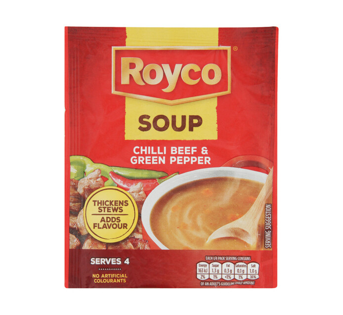 Royco Regular Packet Soup Chilli Beef & Green Pepper (10 x 45g)