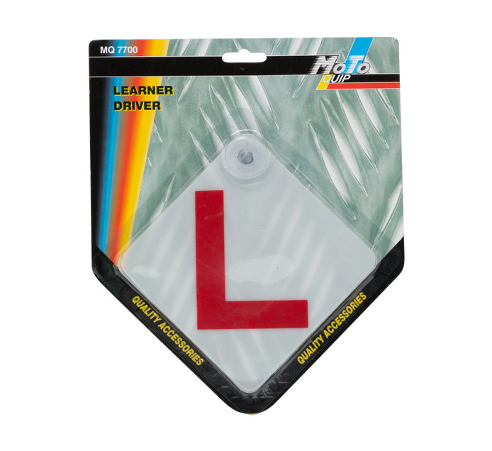 MOTO-QUIP LEARNER DRIVER SIGN