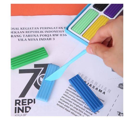 Deli Stationery Plasticine Clay 12 Colors