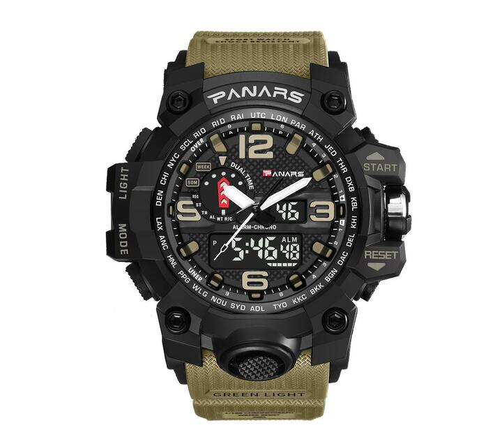 PANARS Multi-functional Sport Digital Watch - Khaki