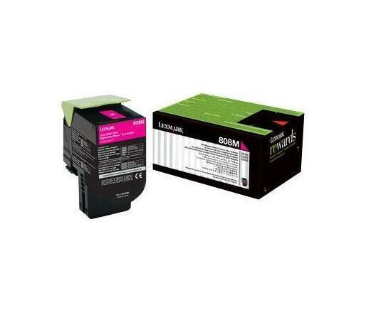 Lexmark 808M - magenta - original - toner cartridge - LCCP, LRP
