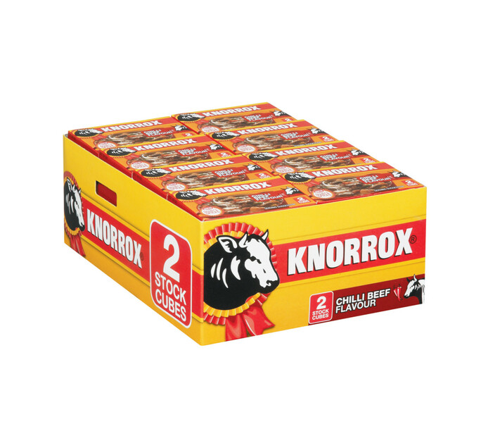 Knorrox Stock Cubes 2pk Chilli Beef (1 x 40's)