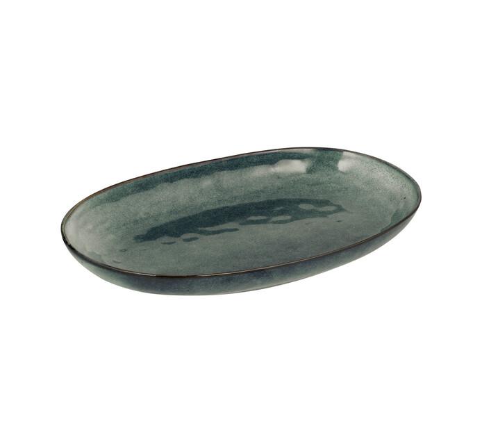 37 cm Fresh Blue Hammered Glaze Platter
