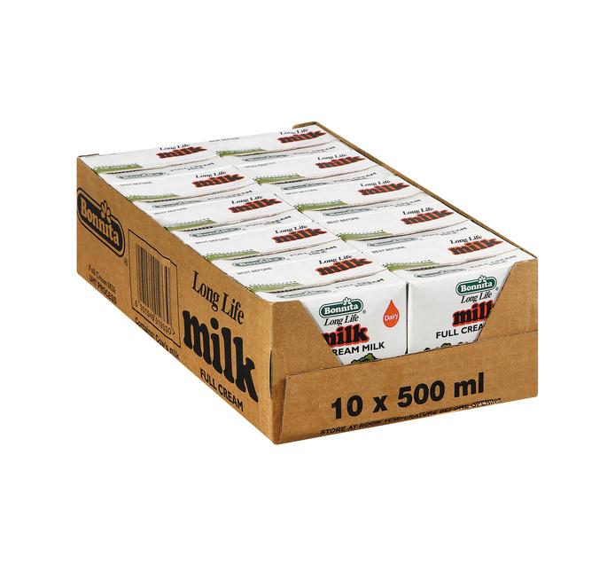 Bonnita UHT Milk Full Cream (10 x 500ml)