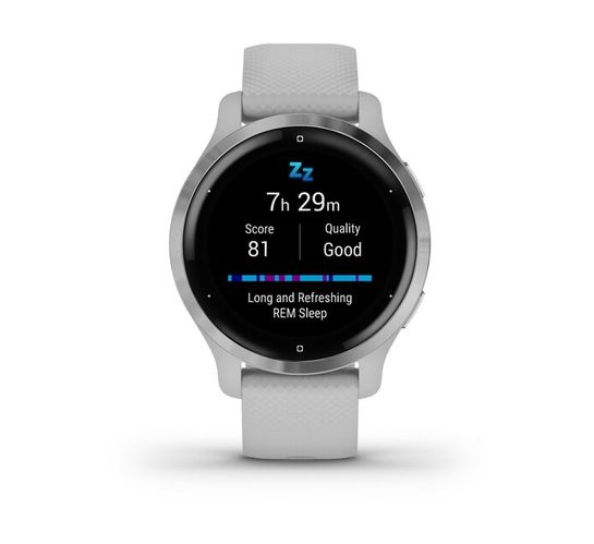 Garmin Venu 2S - Silver Bezel with Mist Grey Case and Silicone Band