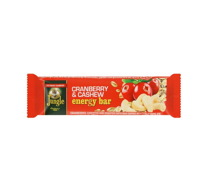 Jungle Energy Bar Cranberry & Cashew (1 x 30's)