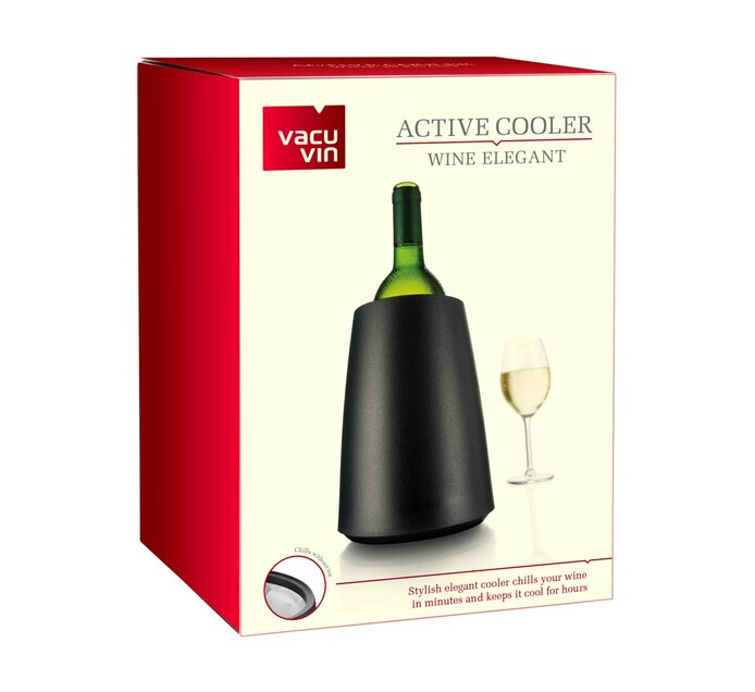 Vacu Vin Elegant Black Active Wine Cooler