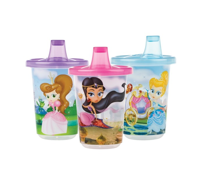 Nuby 3pk Cups With Lids Princess