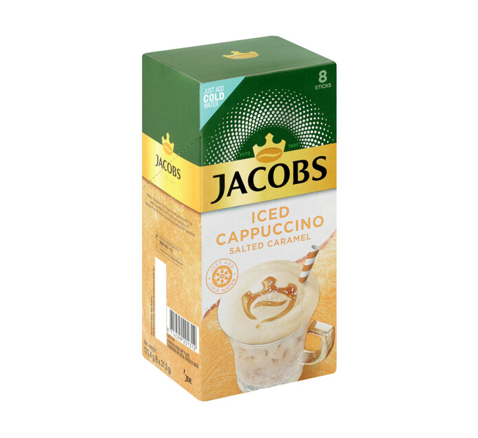 Jacobs Kronung Instant Iced Cappuccino Salted Caramel (8 x 21.5g)