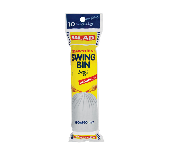 Glad Draw-String Swing Bin Bags (1 x 10's)