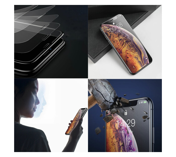 Baseus 0.3mm Frosted Curved Glass Screen Protector for iPhone 11 Pro/X/XS