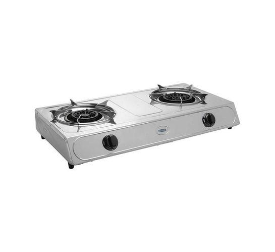 Cadac 2-Plate Gas Stove with Hose and Regulator