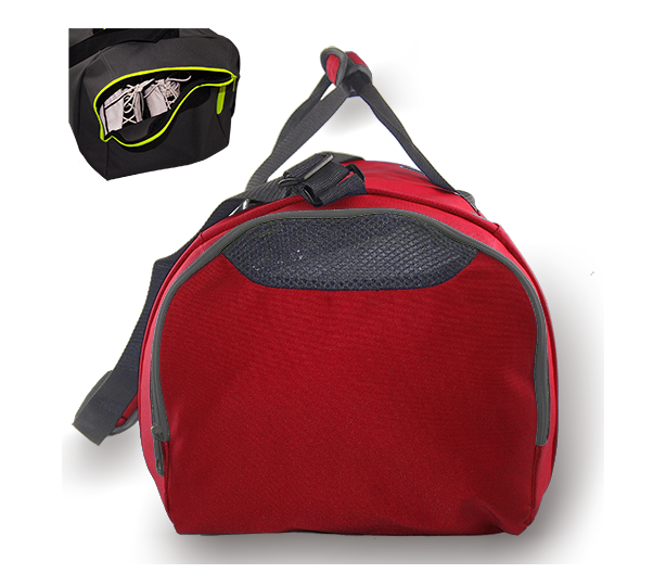 Kings Dome Shaped Carry Bag Red & White - 2577L
