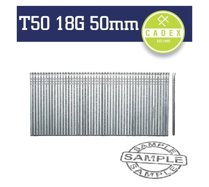 Cadex T50 Brad Nail 18g 50mm Galv 5000pce