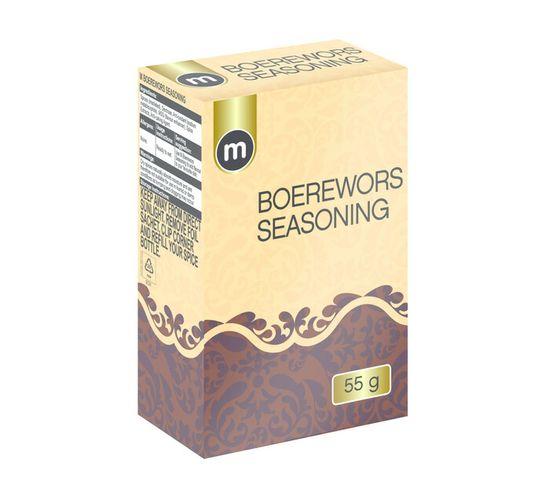 M Brand Refill Seasoning Boerewors (1 x 55g)