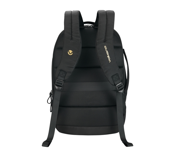Volkano Trim Series 15.6 (39.6 cm) Backpack in Black With Padded Laptop Compartment and Trolley Strap Ideal for Use When You're Dashing to Catch Your Next Flight