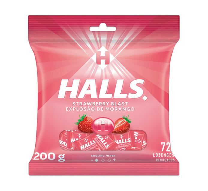 Halls Lozenges Bag Strawberry Blast (1 x 72's)