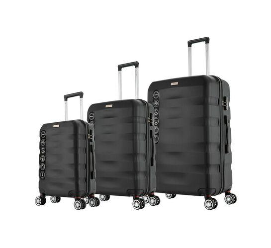 Mykonos 3-Piece ABS Trolley Set