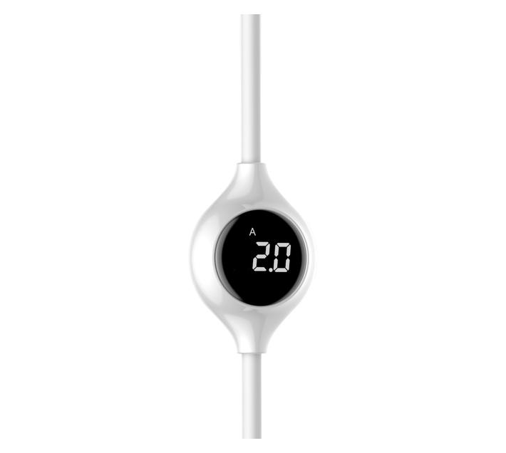 Baseus 1m - 2A Big Eye Digital Display USB Type-A 2.0 to Lightning - White