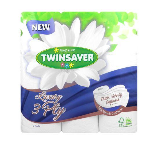Twinsaver 3-Ply Toilet Paper White (9's)