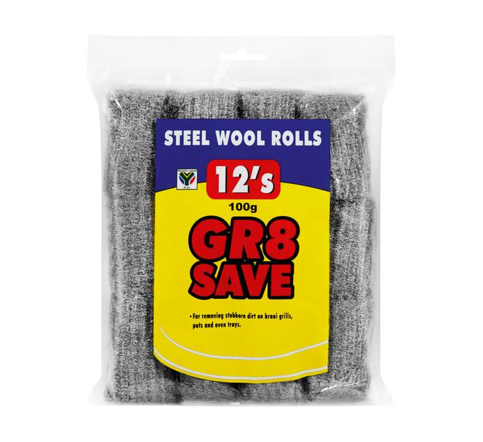 Gr8 Save Steel Wool Rolls 12-Pack