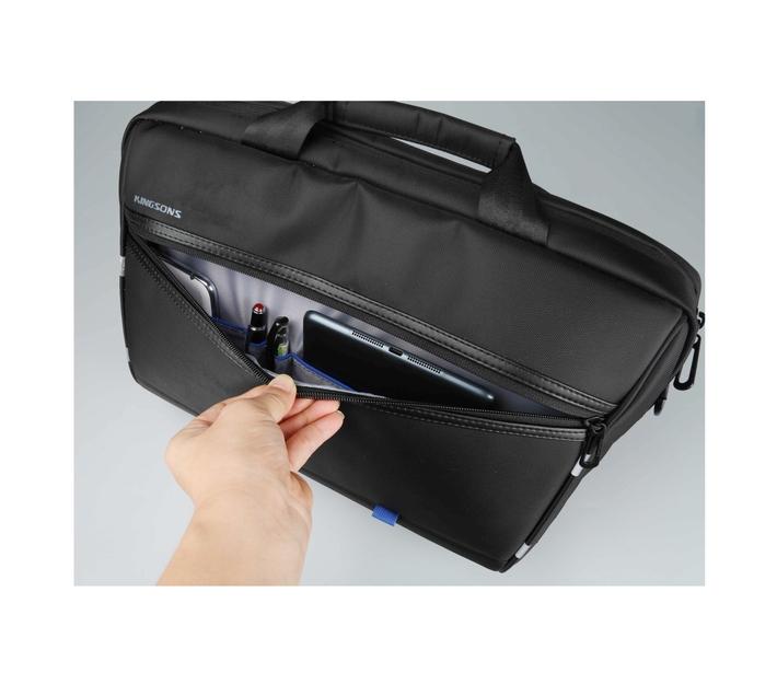 Kingsons Global Series 15.6` (39.6cm) Laptop Shoulder Bag with Dedicated Laptop Compartment