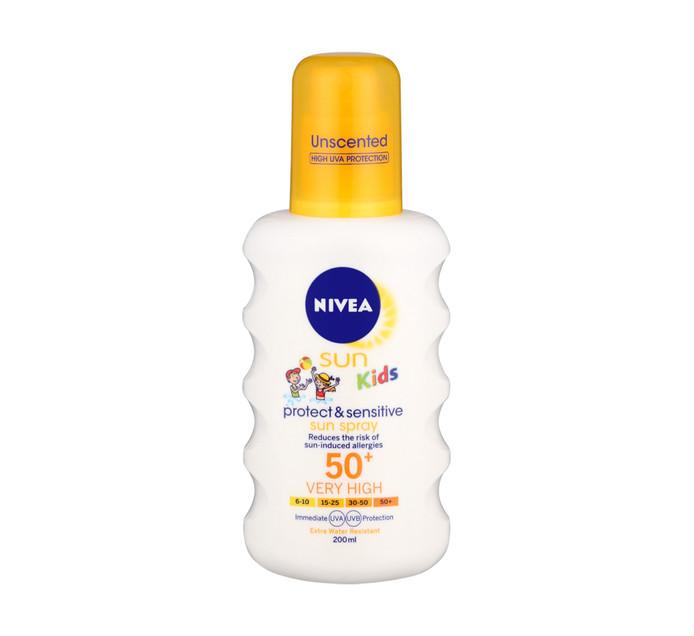 NIVEA Spf50 Kids Sensitive And Protect Spray Sensitive And Protect (1 x 200ml)
