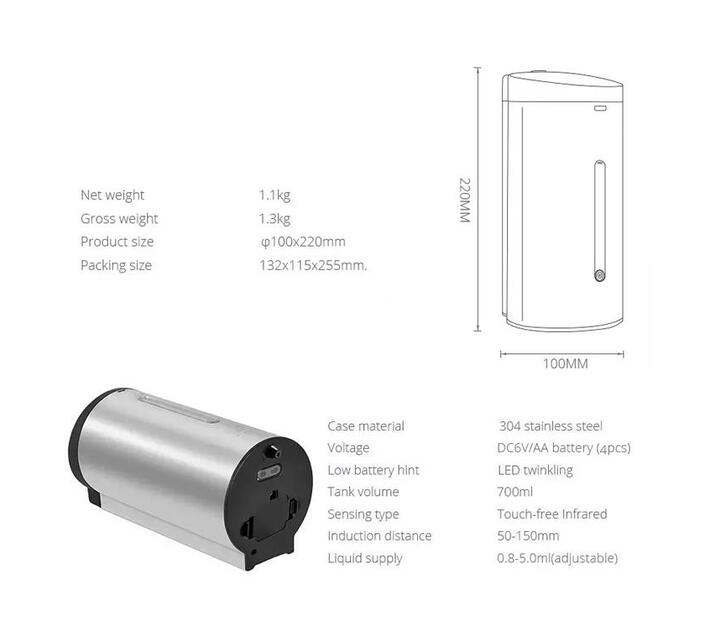 CHROMECATER Automatic Soap Dispenser 700ml