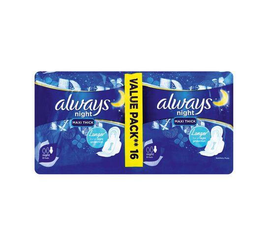 Always Maxi Duo Sanitary Pads Night (1 x 16's)