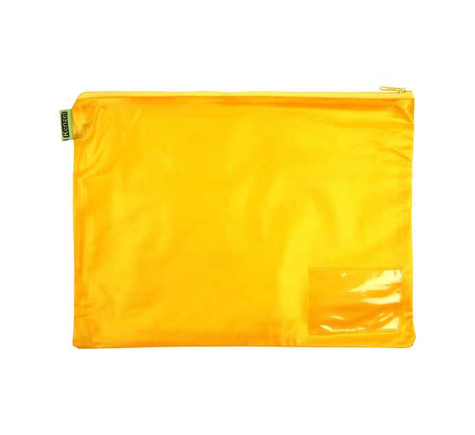 Kenzel A4 PVC Book Bag Yellow Each