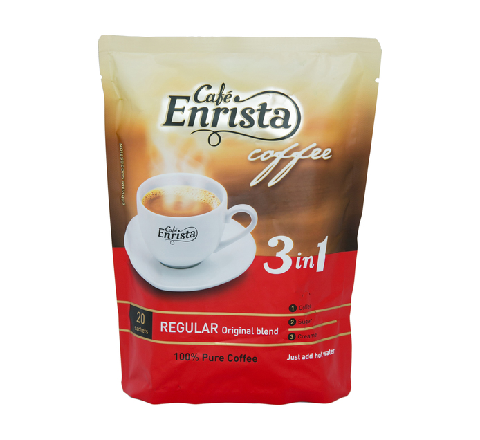 Cafe Enrista Coffee 3-in-1 Regular (1 x 20's)