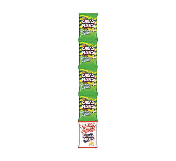Willards Cheasnaks Strips Cheese and Onion (120 x 22g)