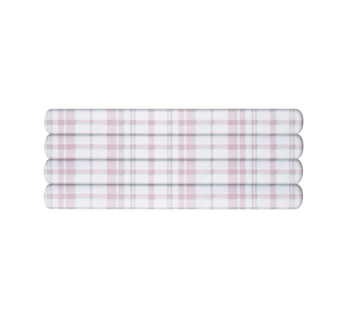 Primaries Queen Fitted Sheet tartan pink