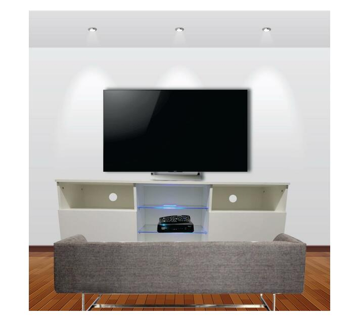 TV Stand With Blue LED Lights G37-White