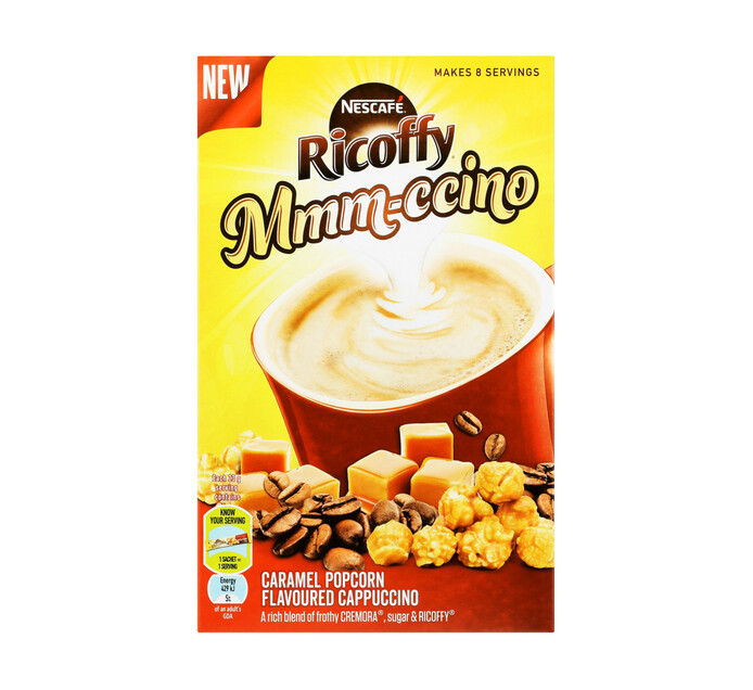 Nescafe Ricoffy Cappuccino Caramel Popcorn (8 x 23g)