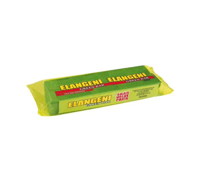 Elangeni Green Bar Laundry Soap (4 x 500g)