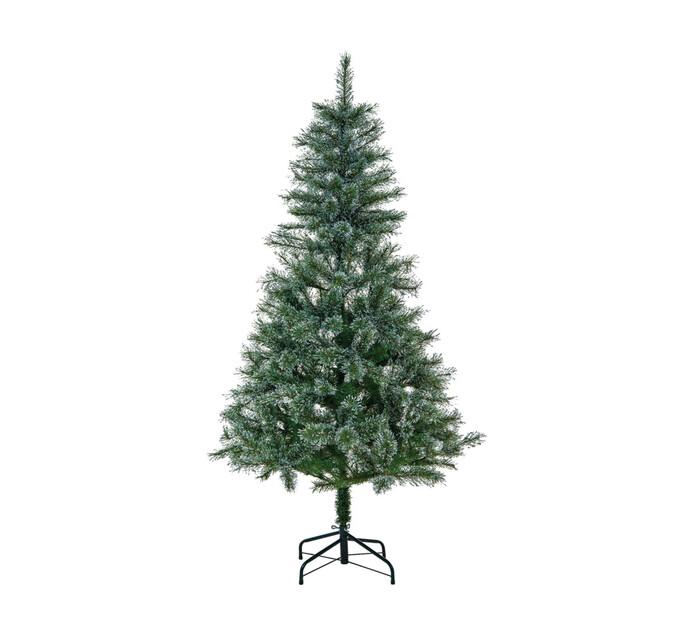 St Nicholas 180 cm Silver Glitter Cashmere Tree