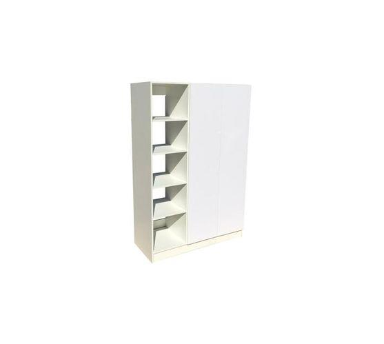 BIC1200 2Door Open Shelf UV White