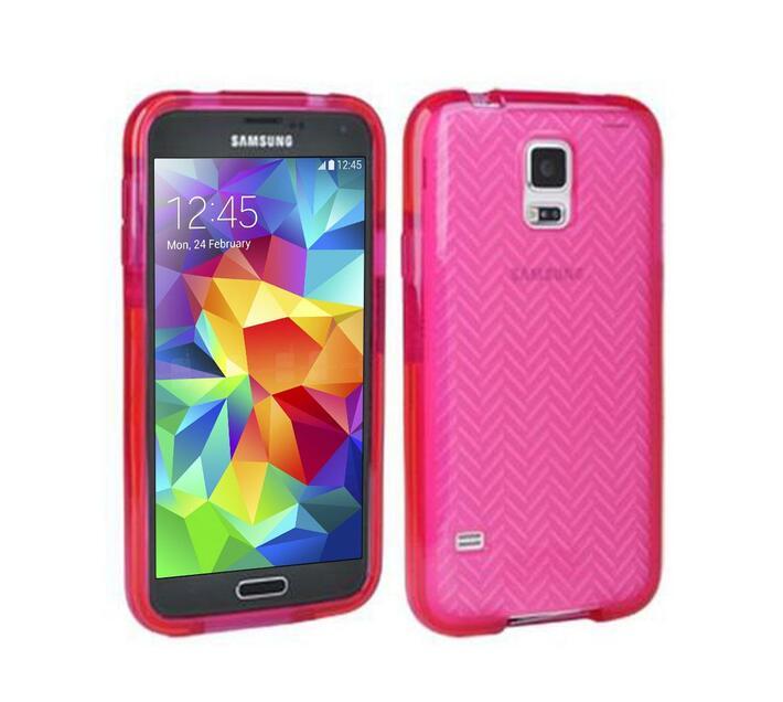 Tech21 Impact Herringbone Samsung S5 Cover (Pink)