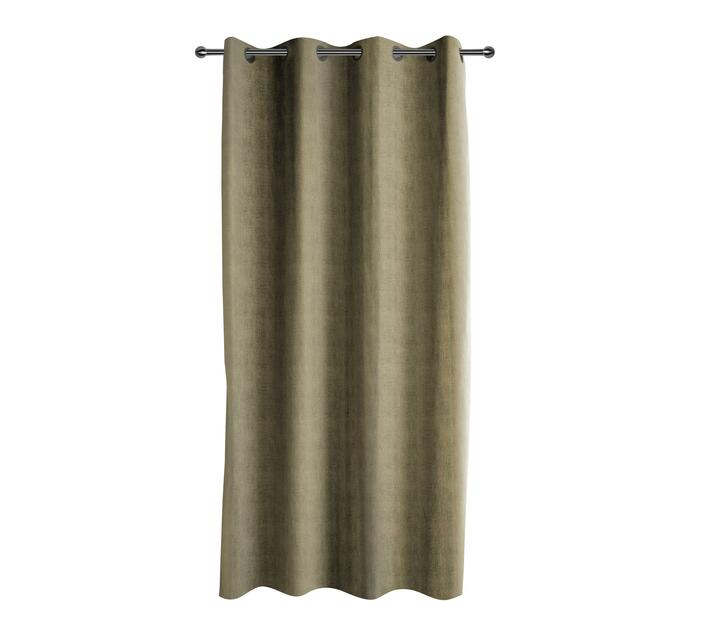 easyhome Suede Solid Eyelet Curtain Ecru 140 x 250cm